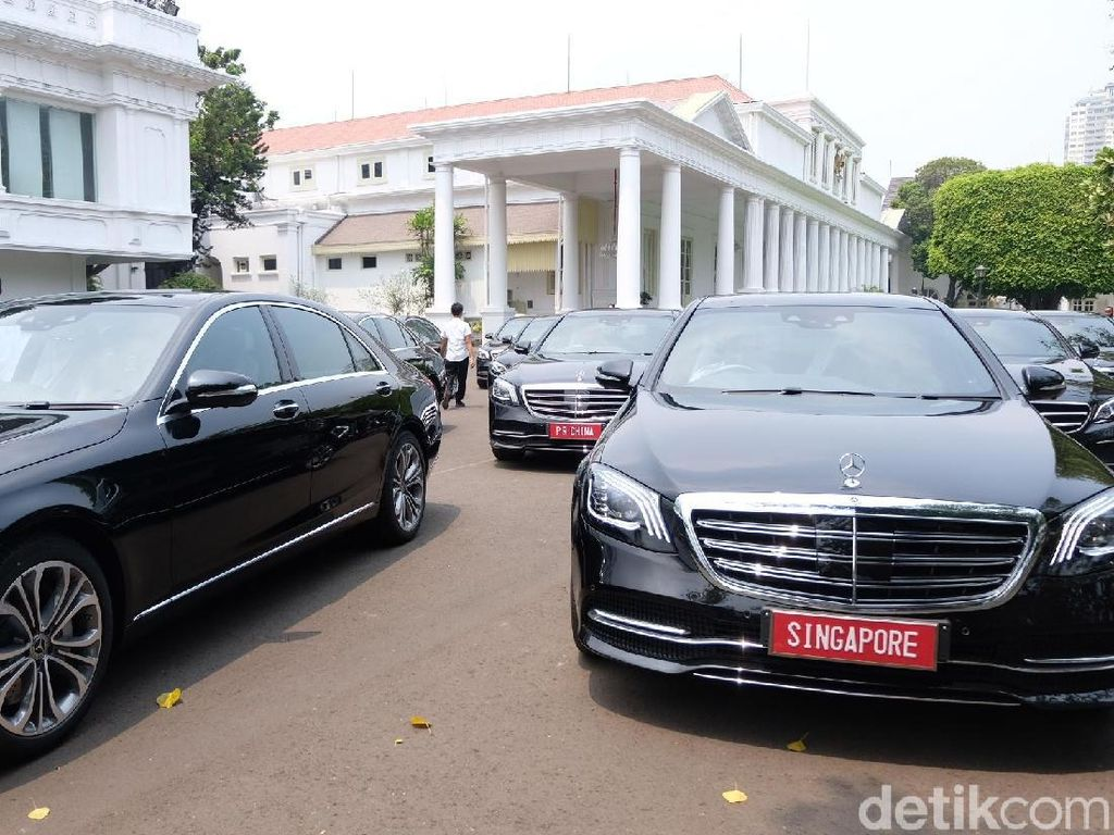 Istana Sewa Gratis 18 Mercy Tamu Negara di Pelantikan Jokowi