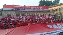 Warga Ngawi Dukung Pelantikan Jokowi dengan Gelar Parade Merah Putih