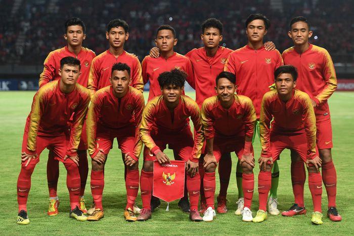 Timnas Indonesia U-19 menjalani Foto: Zabur Karuru/ANTARA FOTO)