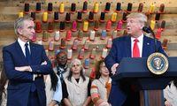 Presiden Trump Diejek alasannya Salah Ucap Louis Vuitton di Pabriknya