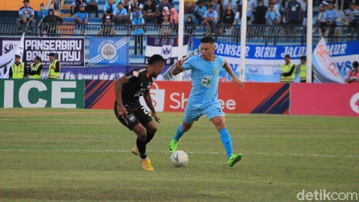Laga Persela vs PSIS di Stadion Surajaya, Lamongan, Jumat (18/10/2019). (Foto: Eko Sudjarwo/detikSport)