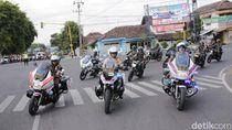 Jelang Pelantikan Presiden, Aparat Gabungan di Banyuwangi Gelar Apel Pasukan
