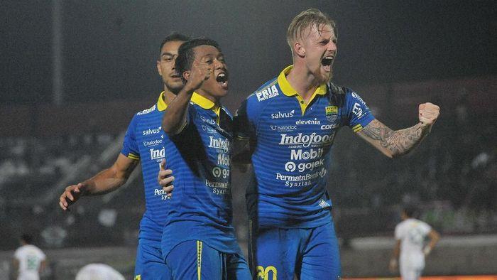 Persib Bandung beraksi di kandang Bhayangkara FC di Liga 1 hari ini. (Foto: Nyoman Budhiana/ANTARA)