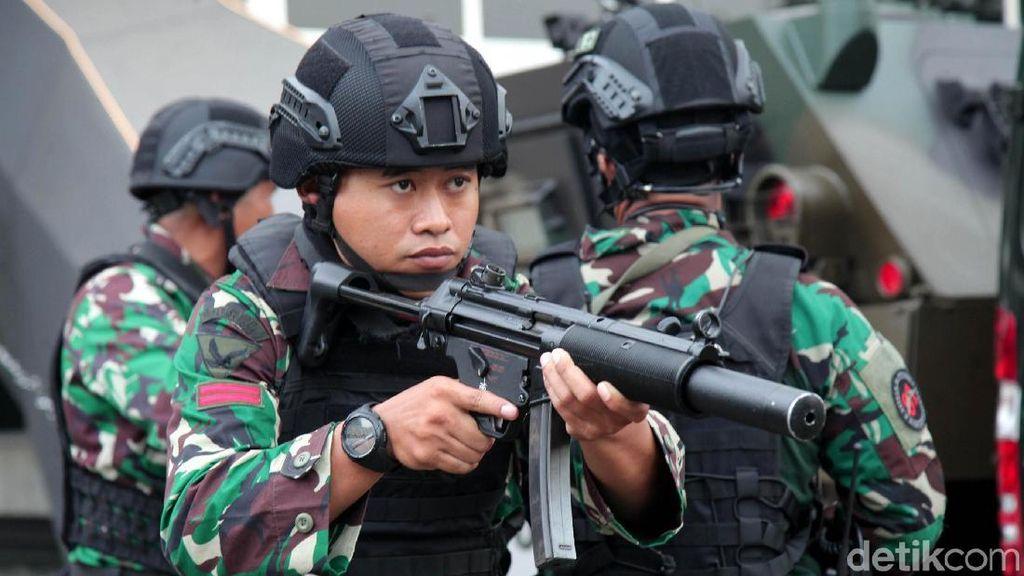 Suasana Geladi Pengamanan Paspampres di DPR