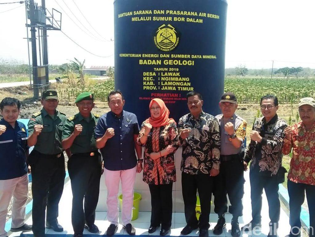 Minimalisir Krisis Air Bersih di Lamongan, Kementerian ESDM Bangun Sumur Bor