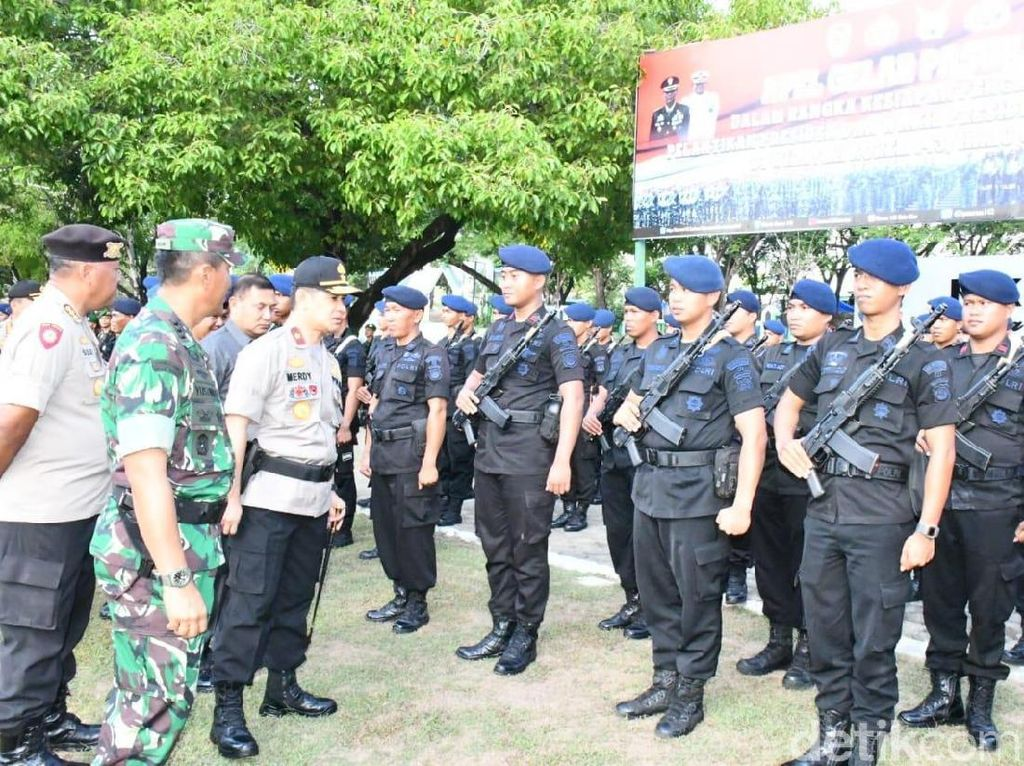 Jelang Pelantikan Presiden, TNI-Polri Gelar Apel Pengamanan di Sultra
