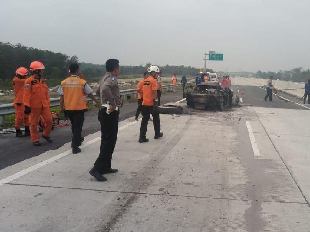 Polisi Periksa Sopir Truk yang Terlibat Kecelakaan Maut di Tol Lampung
