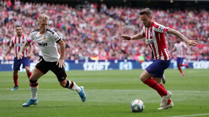 Laga Atletico Madrid vs Valencia berakhir imbang 1-1. (Foto: Gonzalo Arroyo Moreno/Getty Images)