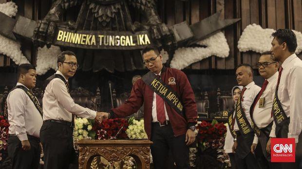 Gladi bersih pelantikan Presiden dan Wakil Presiden Republik Indonesia di Gedung DPR-MPR.