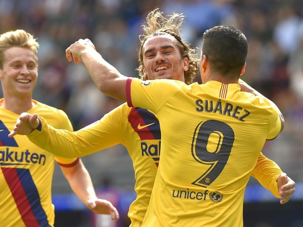 Perdana! Trisula MSG Bikin Gol untuk Barcelona Dalam Satu Laga