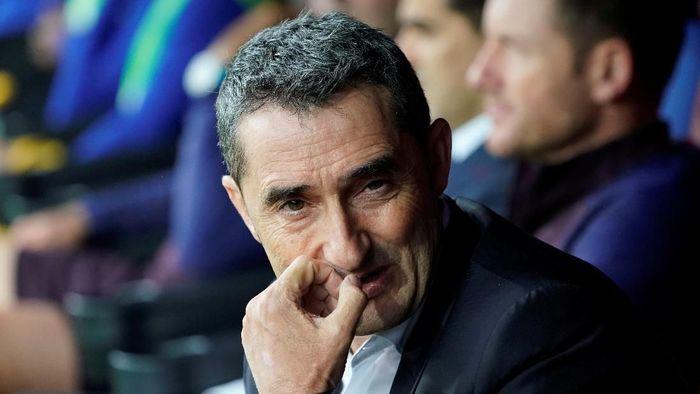Pelatih Barcelona Ernesto Valverde mengaku tidak cemas dengan masa depannya di klub. (Foto: Vincent West/Reuters)