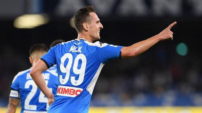 Foto: Napoli menang 2-0 atas Hellas Verona berkat brace Arkadiusz Milik (Francesco Pecoraro/Getty Images)