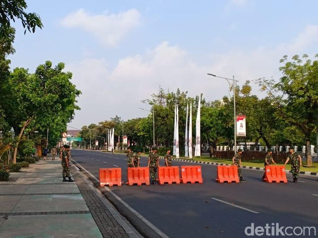 Jelang Pelantikan Presiden, Ruas Jalan Arah Istana Negara Steril