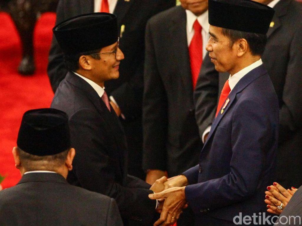 Sandiaga Maknai Pesan Jokowi untuk Berangkulan