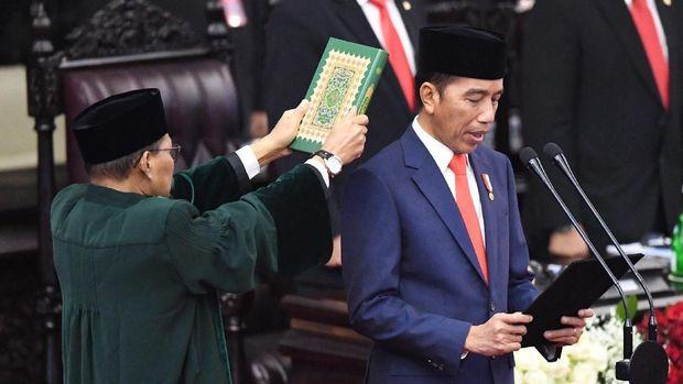 Pengambilan sumpah Presiden RI Jokowi. (