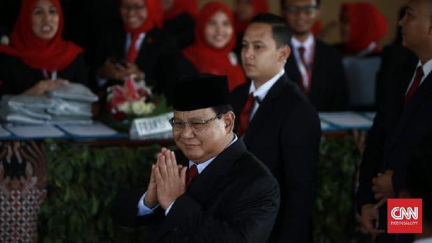 Prabowo Subianto hadir di Pelantikan Presiden RI. (