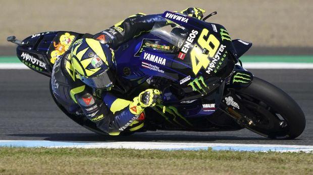 Valentino Rossi turun ke posisi tujuh klasemen MotoGP 2019.