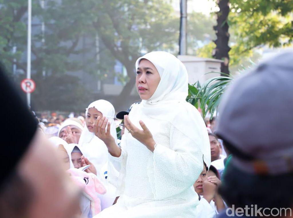 Ini Kata Khofifah Soal Penanganan Kebakaran di Jawa Timur
