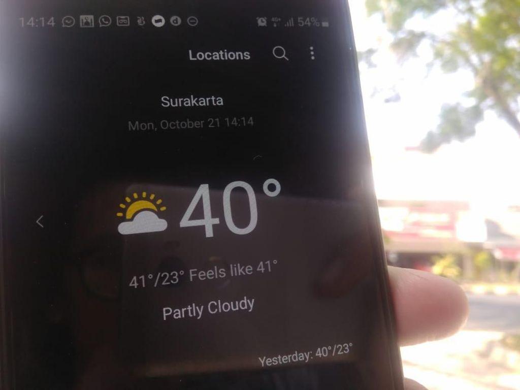 Ramai Pasang Status Suhu 40 Derajat di Solo, Ini Kata BMKG