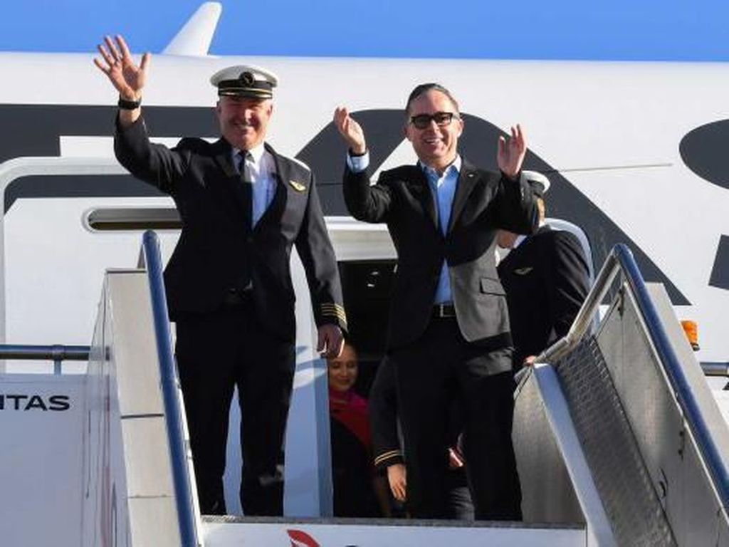 Qantas Lakukan Penerbangan Bersejarah 19 Jam Non-Stop New York ke Sydney