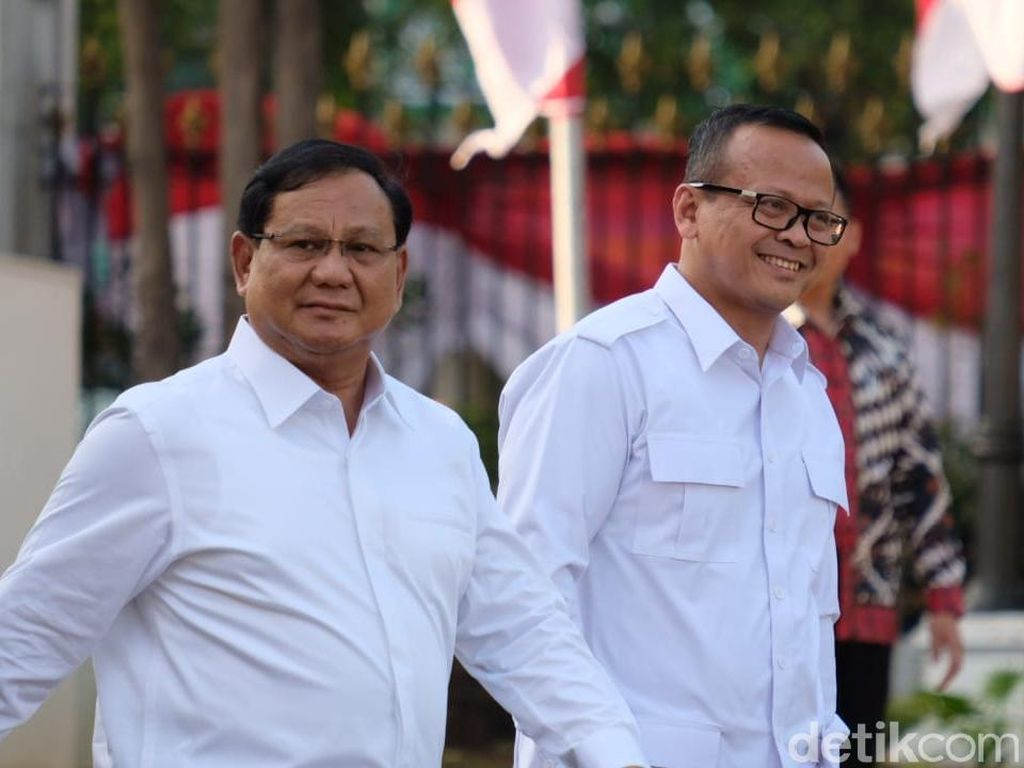 Berkemeja Putih, Prabowo-Edhy Prabowo Penuhi Panggilan Jokowi