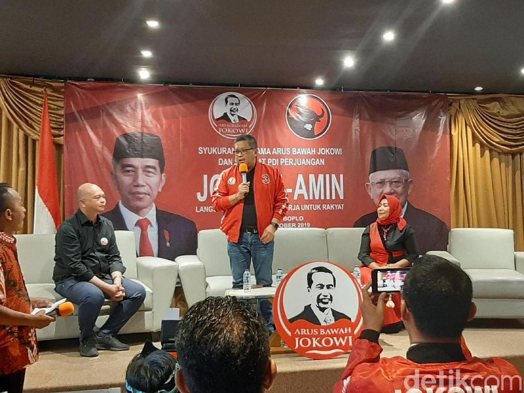 Syukuran Bareng Pendukung, Sekjen PDIP Doakan Calon Menteri Jokowi