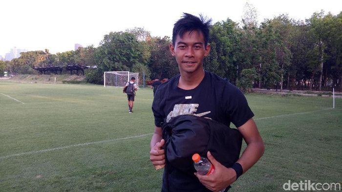 Satria Tama menegaskan bahwa Timnas Indonesia U-23 bukan tim lemah. (Foto: Randy Prasatya/detikcom)