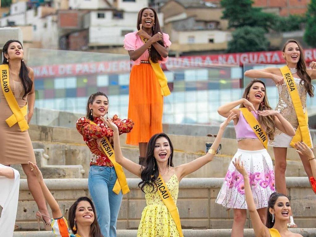 Kocak! Finalis Miss Grand International Joget Entah Apa Yang Merasukimu