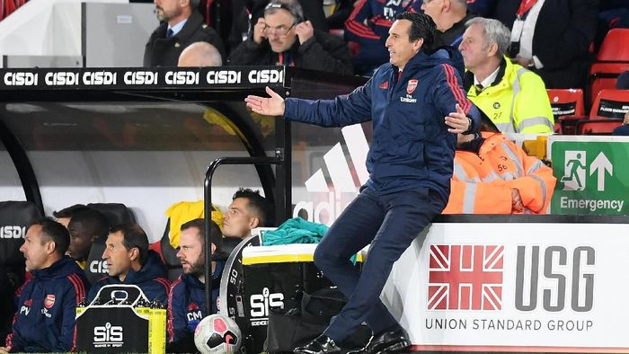 Manajer Arsenal Unai Emery. (Foto: Michael Regan/Getty Images)