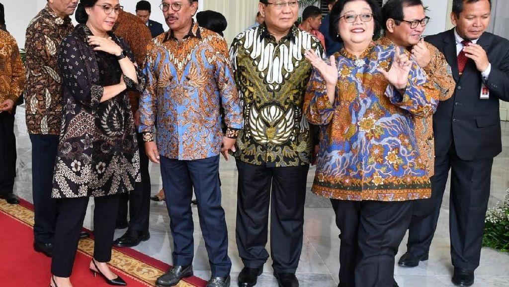 Momen Keakraban Para Menteri di Kabinet Baru Jokowi