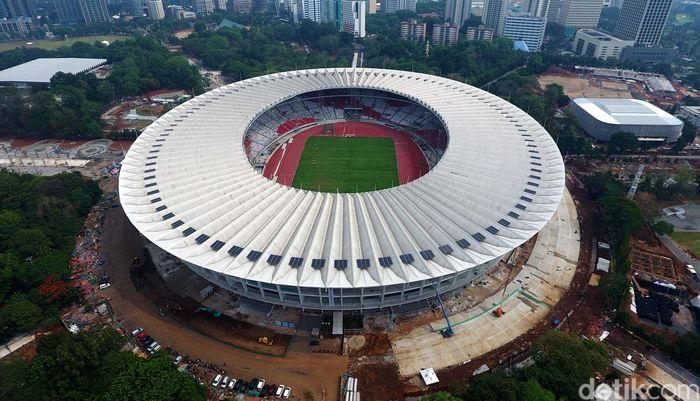 Stadion Utama Gelora Bung Karno (SUGBK) tentu saja akan menjadi salah satu stadion yang akan digunakan untuk perhelatan bergengsi Piala Dunia U-20. (Muhammad Abdurrosyid/detikcom)