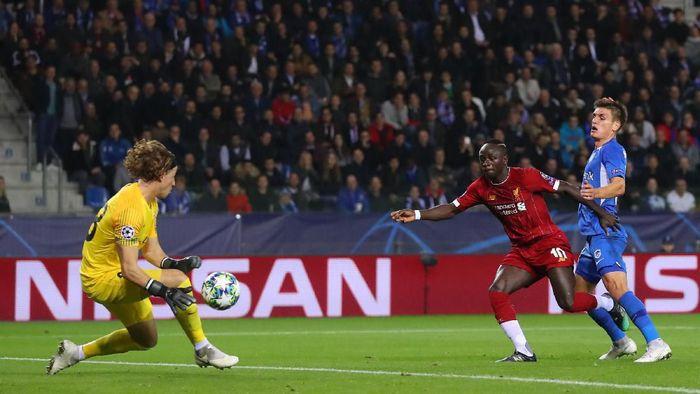 Liverpool memimpin 1-0 atas Genk di babak pertama. (Foto: Catherine Ivill/Getty Images)