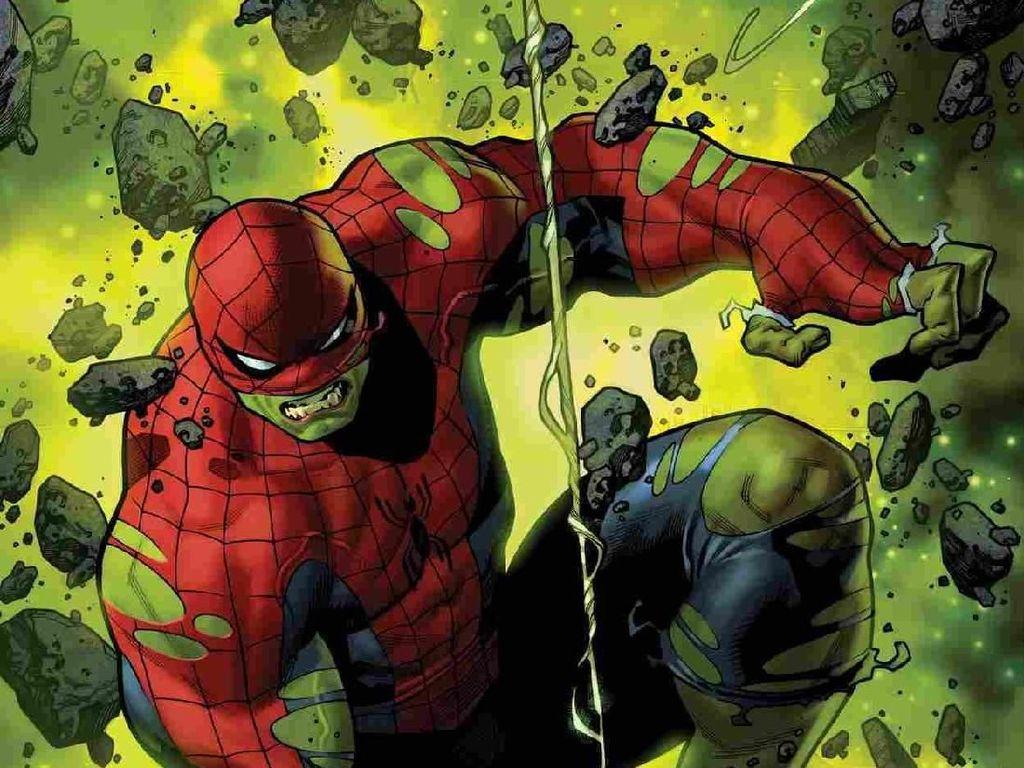 Peter Parker Jadi Spider-Hulk!