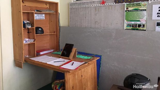 Tempat presensi di Nafa Islamic School