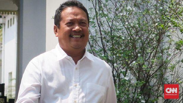 Bendahara Tim Kampanye Nasional (TKN) Jokowi-Ma'ruf semasa Pilpres 2019 lalu, Wahyu Sakti Trenggono .