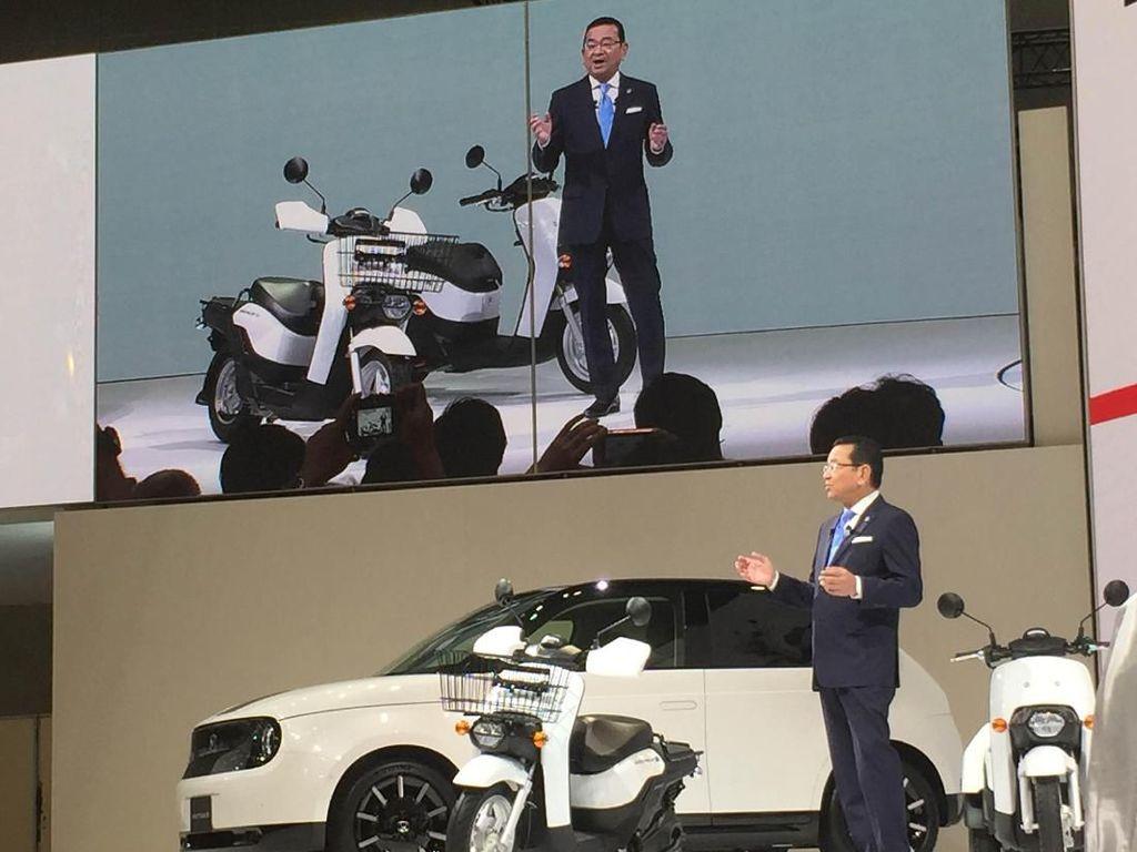 Honda Kenalkan 2 Motor Listrik Buat Antar Barang