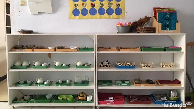 Ruang kelas montessori di Nafa Islamic Daycare
