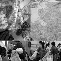 Sketching gambar desain dibentuk oleh Wike (Creative Director), Chen Wen Chiu yaitu nama Tionhoa dari Wike yang ada di setiap Batik Obate/