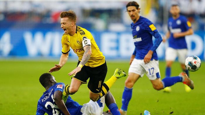Schalke 04 vs Borussia Dortmund berakhir imbang 0-0 (Foto: REUTERS/Thilo Schmuelgen)