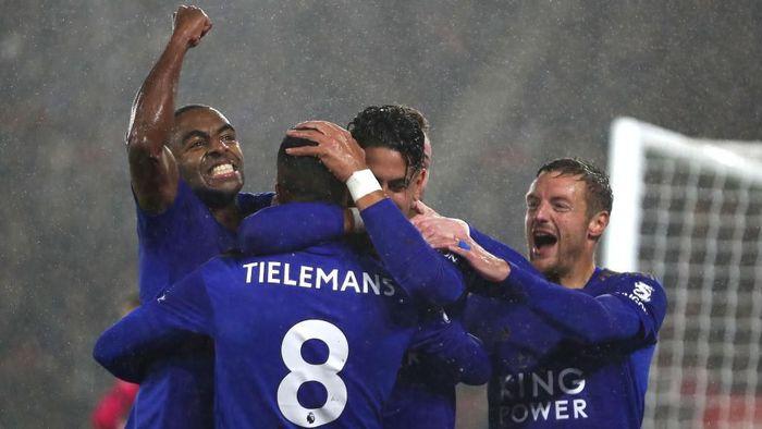 Leicester City membantai Southampton 9-0 dalam lanjutan Liga Inggris (Foto: Naomi Baker/Getty Images)