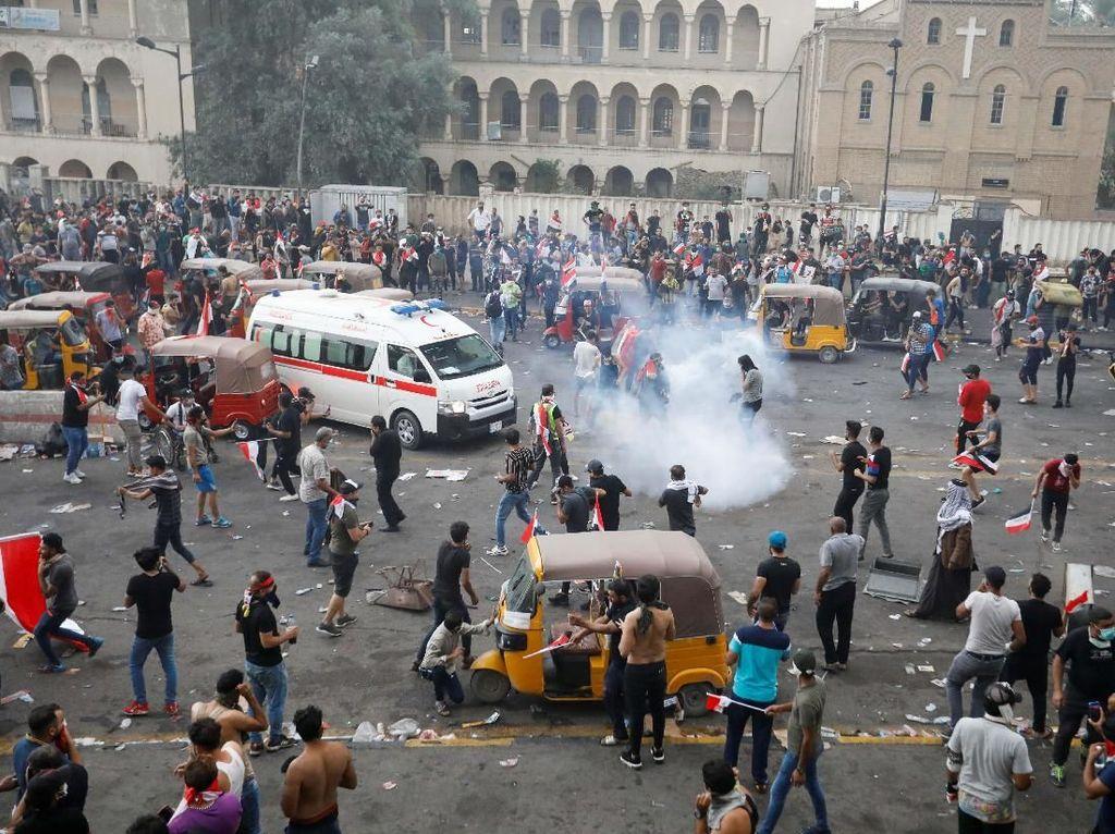 42 Tewas Dalam Unjuk Rasa Berujung Rusuh di Irak