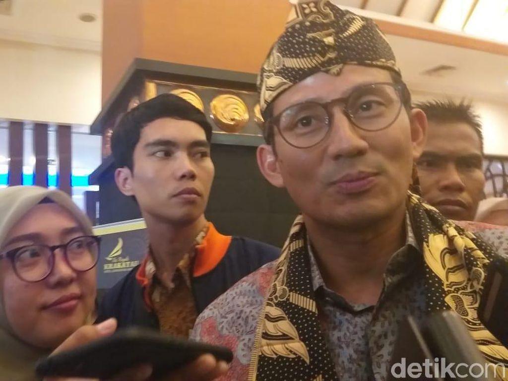 Prabowo Jadi Menhan, Sandiaga: Saya Optimis Meski Banyak Tantangan