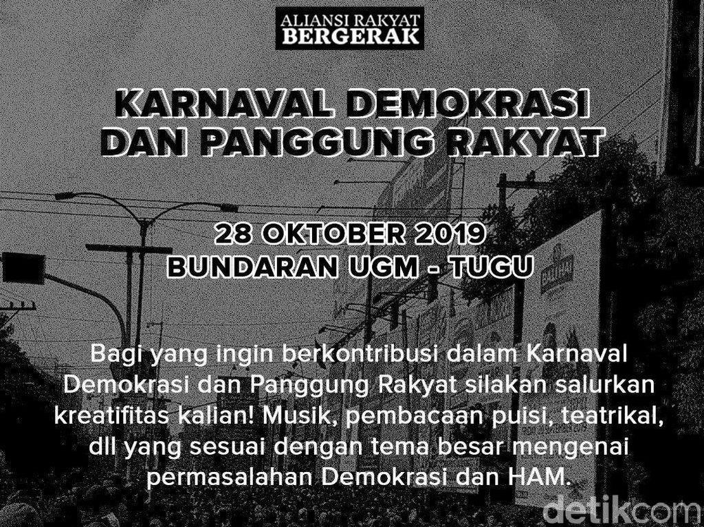Besok Ada Aksi Gelar Karnaval Demokrasi dan Panggung Rakyat di Yogya
