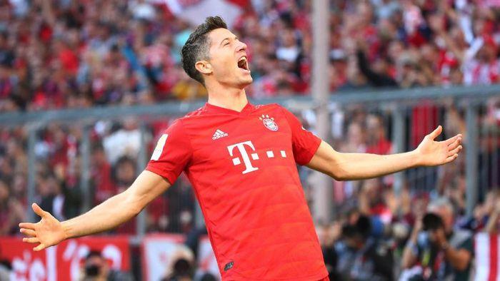 Striker Bayern Munich Robert Lewandowski mengatakan, masih bisa tampil lebih baik lagi. Foto: Michael Dalder/Reuters