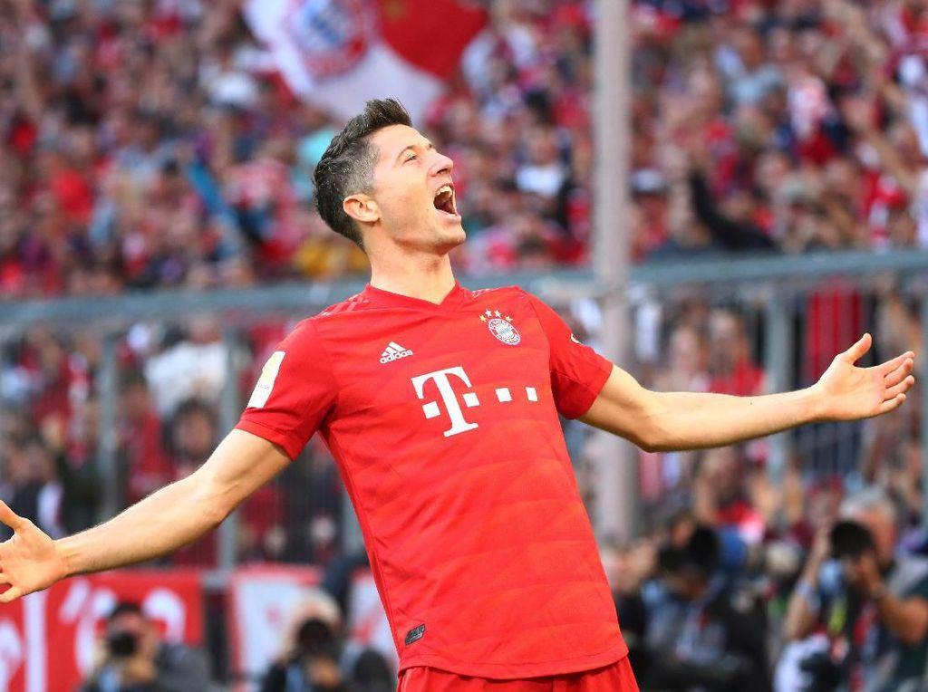 Lewandowski Patahkan Rekor Aubameyang di Bundesliga