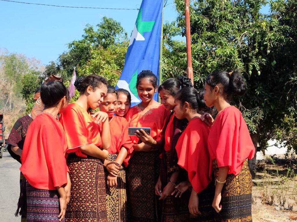 Desa Aewora di Ende Akhirnya Merdeka Sinyal