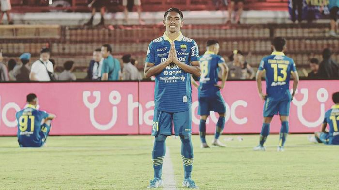 Frets Butuan menyumbangkan gol untuk Persib Bandung saat melawan Persija Jakarta. (Foto: dok.Instagram @fretsbutuan21)