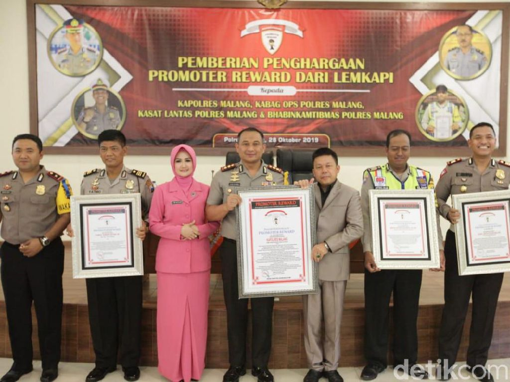 Polisi Malang Sabet Empat Penghargaan