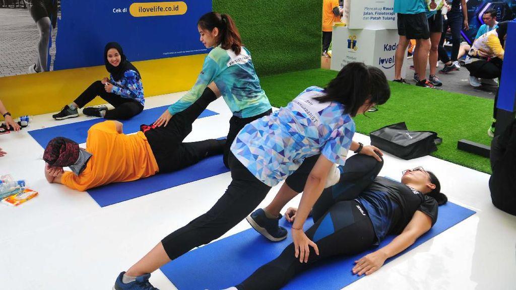 Fasilitas Physiotherapist untuk Pelari Electric Jakarta Marathon 2019