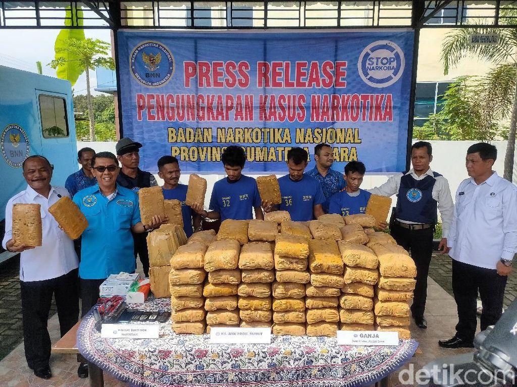 BNN Sumut Ungkap Penyimpanan 143 Kg Ganja di Pematangsiantar